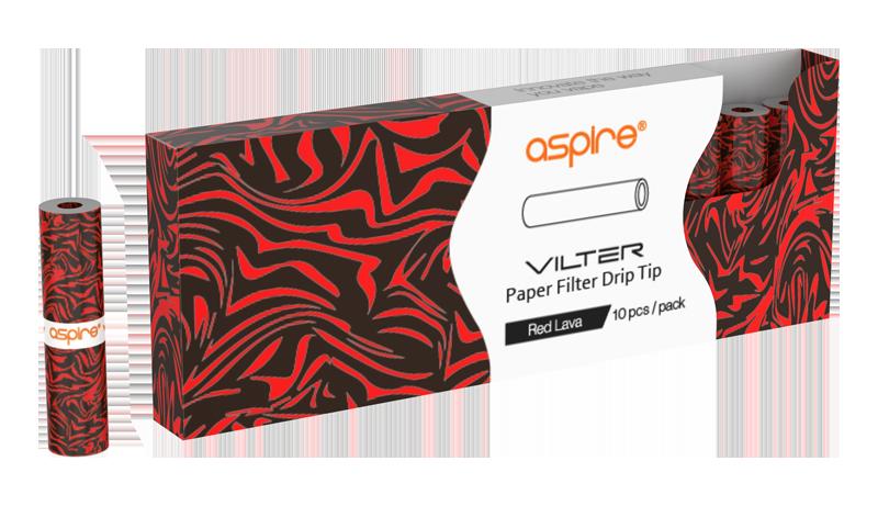 Filtri Aspire Vilter red lava 10pz