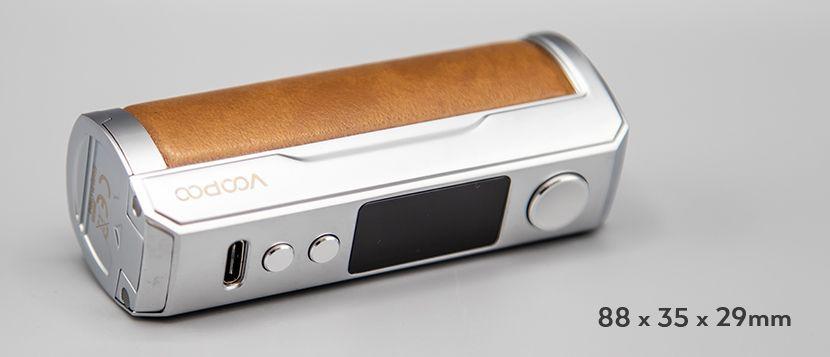 Drag X Plus Professional Edition Box Mod Voopoo dimensione