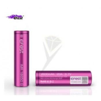 Batteria Efest Purple IMR 18650 20A 3.7v 3500mah flat