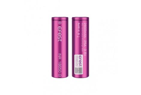 Batteria Efest Purple IMR 18650 25A 3.6v 2600mah flat