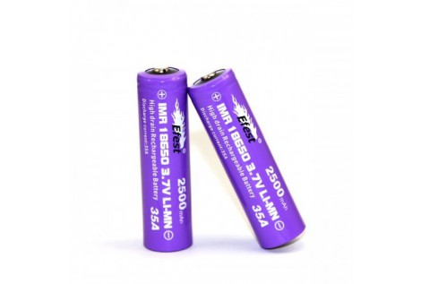 Batteria Efest Purple IMR 18650 35A 3.7v 2500mah flat