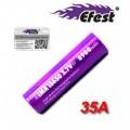 Batteria Efest Purple IMR 18650 35A 3.7v 2900mah senza pin