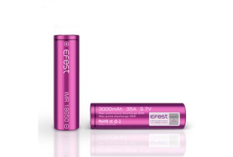 Batteria Efest Purple IMR 18650 35A 3.7v 3000mah flat