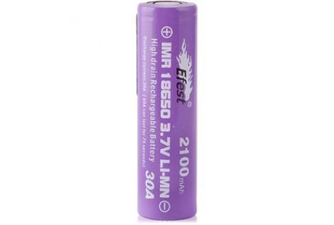 Batteria Efest Purple IMR 18650 38A 3.7v 2100mah flat