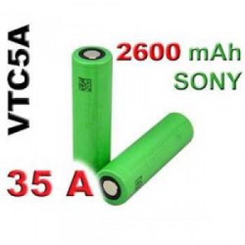 Batteria Sony 18650 VTC5A  35A 3.7v 2600mah senza pin