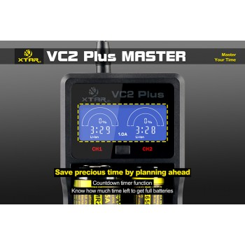 Caricabatterie Xtar Vc2 Plus Master LCD