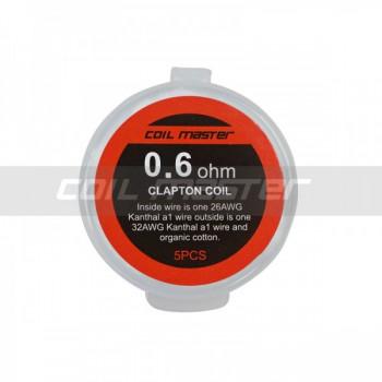 Coil Master Resistenza Prefatta Kanthal A1 Clapton 26GA+32GA 0.6Ohm 5pz