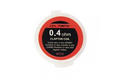 Coil Master Resistenza Prefatta Kanthal A1 Clapton 26GAX2+32GA 0.4Ohm 5pz