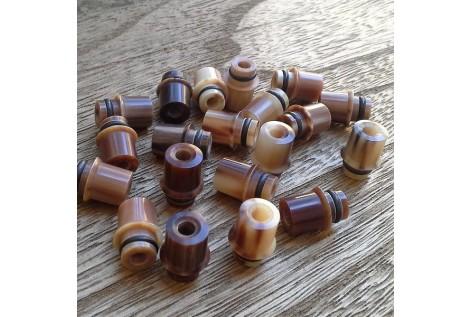 Drip Tip 510 Mod Perseo in Corno Colore Marrone chiaro/scuro