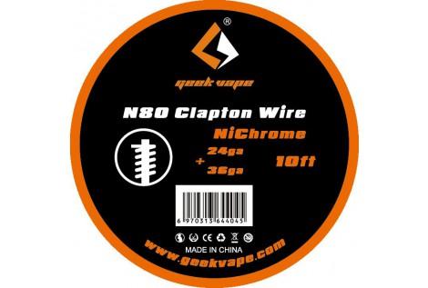 Filo Resistivo Geekvape Clapton Ni80 24+36 ga