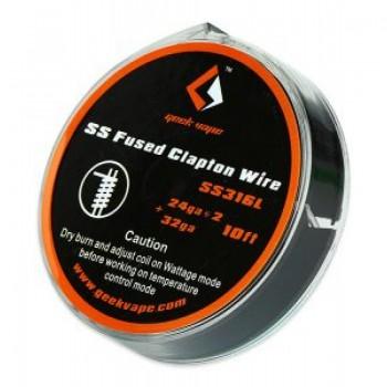 Filo Resistivo Geekvape Fused Clapton Wire SS316L 26X2+30GA 3M