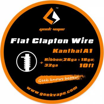 Filo Resistivo Geekvape SS316L Flat Clapton Ribbon (26GAX18GA) + 32GA