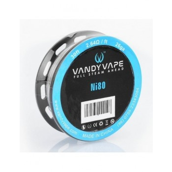 Filo Resistivo Vandy Vape Ni80 26 Gauge