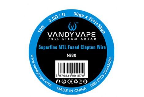 Filo Resistivo Vandy Vape SuperFine MTL Ni80 Fused Clapton 30GAX2+38GA