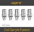 Resistenze Coil di Ricambio Aspire Spryte confezione 5 pz 1.8 Ohm