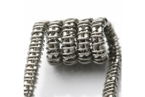 Staggered Fused Clapton Coil SS316L UD 0.15 ohm